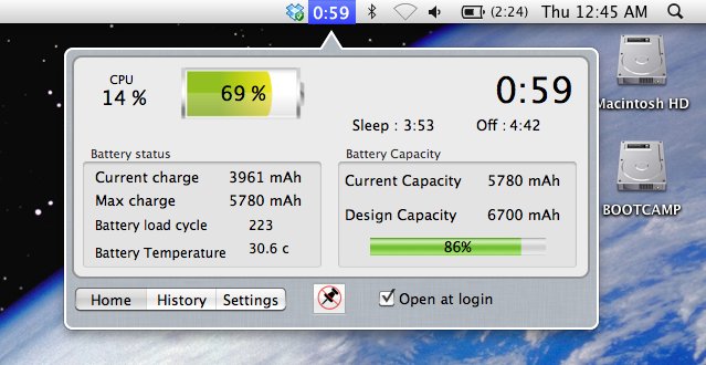 Sample image of battery logger